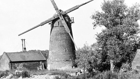 Clippesby Mill on the River Bure near Acle in August 1971 .