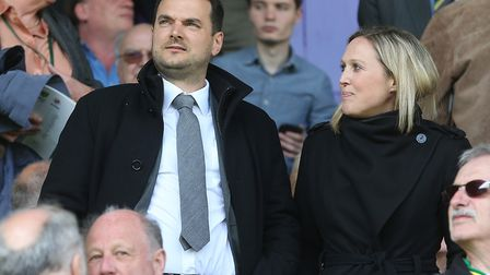 Stuart Webber took in his first Carrow Road game, the 7-1 thrashing of Reading, after his appointmen