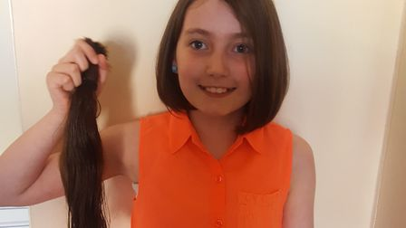 Skye Hubbard had her hair cut for charity. Pictures: Peter Bullimore