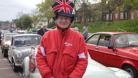NNVC club secretary Roy Beckley at the start of the annual St George's Day run from Sheringham to Ho