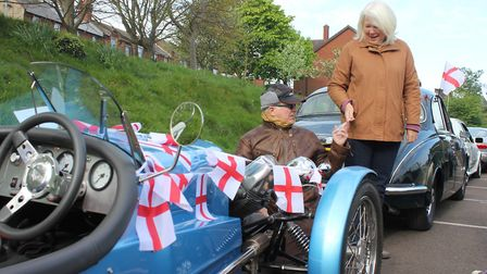 Stalham couple Mike and Julia Morche deck out their Triking 1930s Morgan replica ready for the annua