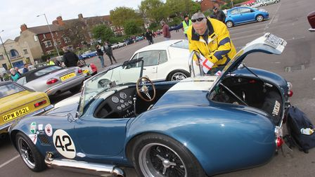Vintage vehicles on show at the NNVC St George's Day run from Sheringham to Holkham Hall. Photo: KAR