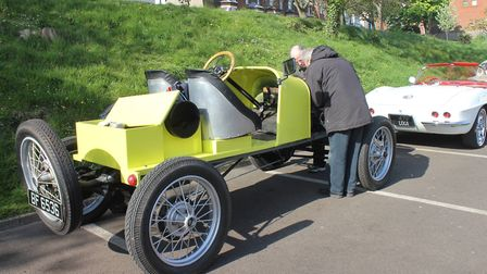 The oldest car on show - a 1912 Model T Ford. Photo: KAREN BETHELL