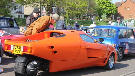 Classic cars on show at the NNVC St George's Day run from Sheringham to Holkham Hall. Photo: KAREN B