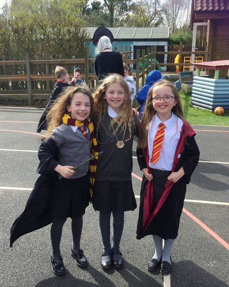 Scenes from the Harry Potter Day at Yaxham Primary School