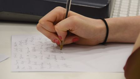 The Lyric writing class at the Access to Music College. Picture: DENISE BRADLEY