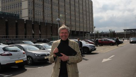 John Bailey looks delighted with Friday�'s council decision. Picture: John Bailey