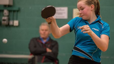 Mollie Patterson in action in the Junior National Cup. Picture: John Upham