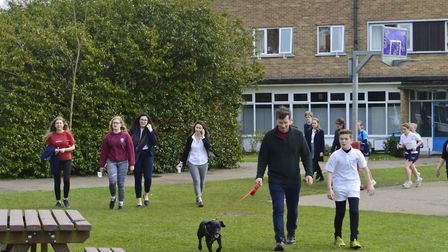 Students and staff at Wymondham College walked and ran a total of 7,600 miles - the distance from Mo