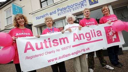 From left, Caroline Wheeler, Helen Broughall who has Autism, Vera Amys, Joe Weatherill and Lois Ware