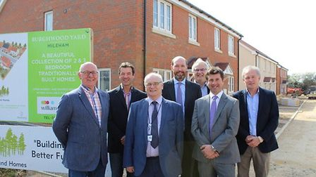 Breckland Council members and representatives from The Land Group visit the housing development in M