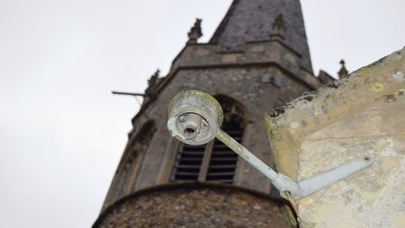 St Andrew's Church in Quidenham, where £15,000 of damage was caused when lead was stolen from the ro