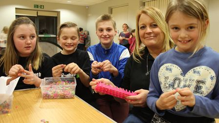Sheringham Youth Zone founder Julie Chalmers with club members. Picture: KAREN BETHELL