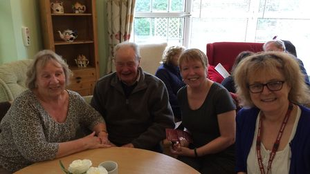 The first of a new monthly drop-in event at Lilac Lodge care home in Oulton Broad. Some of the peopl