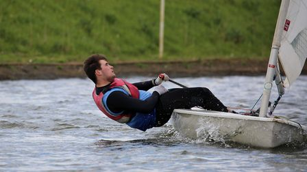 Harry Shipley on his way to two wins. Picture: Beccles ASC