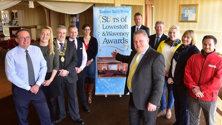 Launch of the Stars of Lowestoft and Waveney Awards. Left from front, Steve Ardley, awards founder,