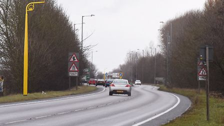 Average speed cameras are now in place on the A17 between Sutton Bridge and King's Lynn. Picture: Ia