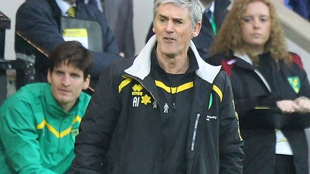 Norwich City's interim manager Alan Irvine is in charge for the trip to Aston Villa. Picture: Paul C
