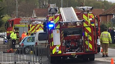 Emergency response vehicles - including two fire engines and two police cars - have been sent to Cro