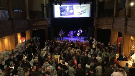 Great Yarmouth beer festival 2015. Addison's Uncle performing at the festival on Friday night