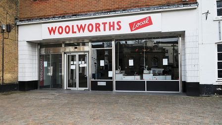 Fakenham town centre. Pictured: the empty Woolworths shop on the Market Place. PHOTO: IAN BURT