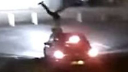 CCTV footage of a hit and run incident in the Vicarage Street Car Park, North Walsham. Picture: Norf