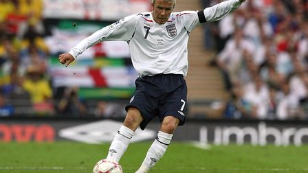David Beckham, pictured in action in 2007, won 115 England caps. Picture: Nick Potts/PA Wire