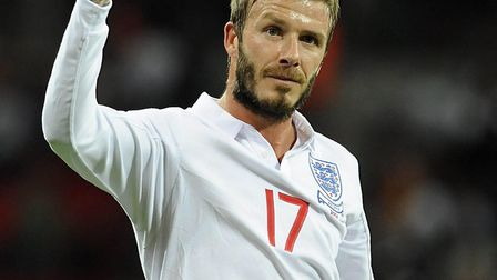 David Beckham in England action in October 2009. Picture: Rebecca Naden/PA Wire
