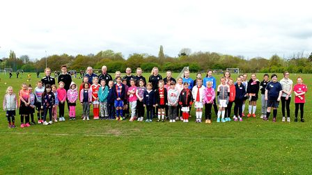 Waveney FC girls development sessions at Barnards Meadow, Lowestoft. Pictures: MICK HOWES