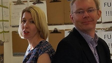 Zoe Gabriele and Trevor Conway of Rhino Building Supplies and DIY in Acle. Picture: Rhino Building S