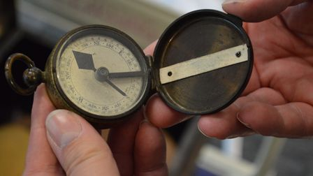 Compass carried by Major Purdy during the battle. Picture: The Forum