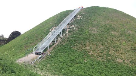 The stairs on Castle Hill have caused quite a stir. Picture: Rebecca Murphy