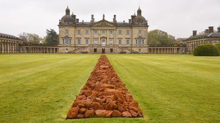 Earth Sky is the new Richard Long exhibition at Houghton Hall. Pictured is A Line in Norfolk. Pictur
