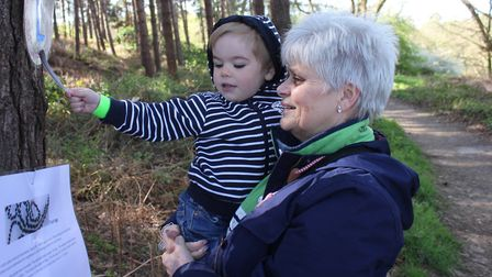 Searching for clues: Cherry Hudson with two-year-old grandson Ollie. Picture: KAREN BETHELL