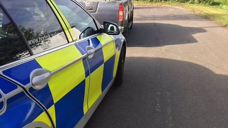 A pick-up seized in Acle for having no insurance. Picture: Norfolk Constabulary