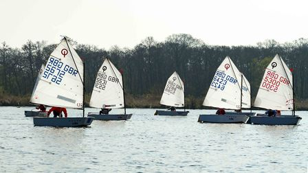 NBYC played hosts to youngsters competing in the Musto Optimist East Traveller Series. Picture: Bill