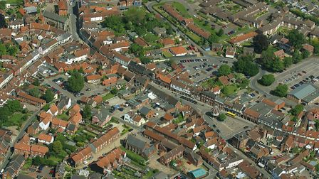 An aerial view of Wymondham. Picture: Mike Page