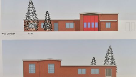Proposed plans for a shared Beccles Fire and Police station on the existing Fire station site.PHOTO