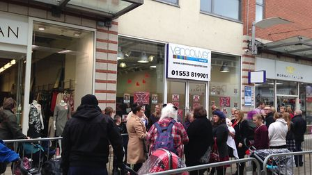 Hopefuls queued outside the Vancouver Quarter in King's Lynn hoping to get on The X Factor 2017. Pic