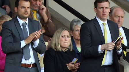 Norwich City's new sporting director Stuart Webber watched Saturday's 7-1 win over Reading at Carrow
