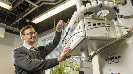 Scientists at work at the John Innes Centre in Norwich. The institute has been awarded �78m to fund