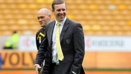 Norwich Manager Alex Neil and Norwich Technical Director Ricky Martin before the Sky Bet Championshi