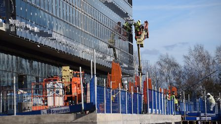 Work ongoing at the Quadram Institute building at the Norwich Research Park. Generic building / cons