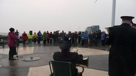 Easter sunrise service at Lowestoft in 2014. Pictures: Courtesy of Christians Together Lowestoft