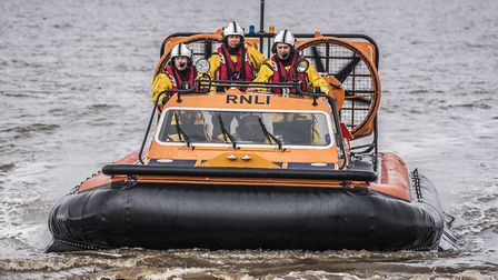 Hunstanton RNLI taking part in a training exercise. Picture: Matthew Usher.