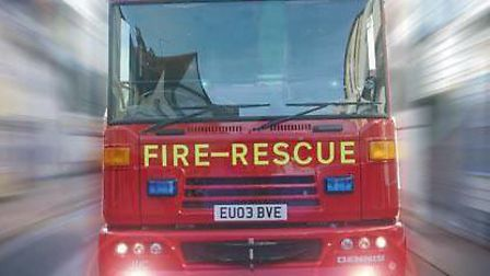 A Suffolk fire engine responds to a call-out. Picture: Archant Library