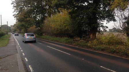 The scene of the accident on the A140, north of Hevingham. Picture Luke Powell.