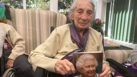 100-year-old Frances Roberts. Picture: David Hannant