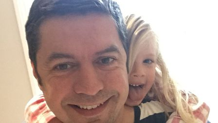 Dickon Best with daughter Ottilie: Picture: Supplied by Dickon Best