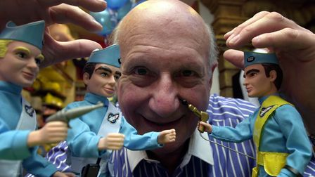 Gerry Anderson, creator of the fictional characters Thunderbirds. Picture: Haydn West/PA Wire